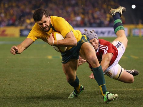 Adam Ashley Cooper scored the only try of the Test