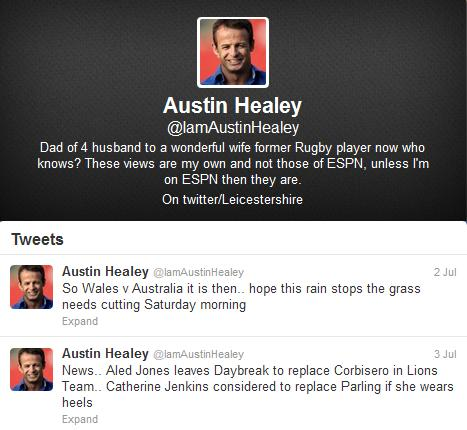 Austin Healey riles the Welsh