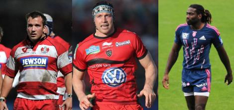 New to Quins colours: Paul Doran Jones, Nick Kennedy and Paul Sackey