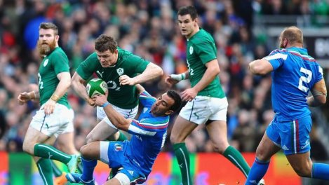 BOD and Sexton linked well in the Irish midfield.