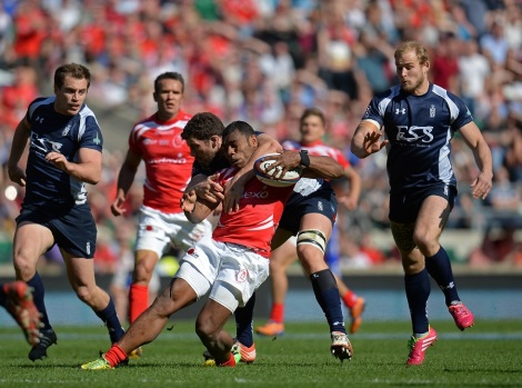 The high-tackle that led to Rokoduguni's decisive try