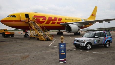 Land Rover and DHL are helping to take the Webb Ellis Cup around the world.