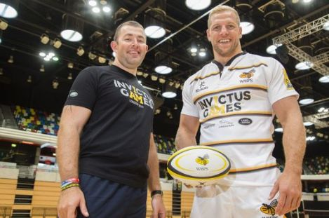 England back row and Wasps Captain, James Haskell, alongside Ben Steele. Credit: Dave Poultney